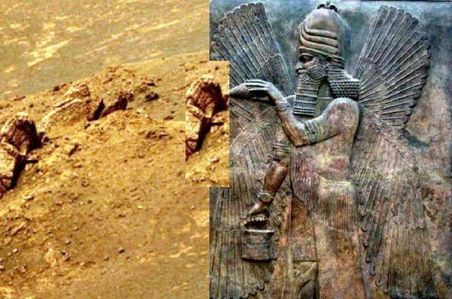 NASA在火星上发现古阿努纳奇人的雕像?