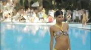 泳池内衣大秀大饱眼福 国际超模海滩写真