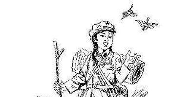 红军战士简笔画