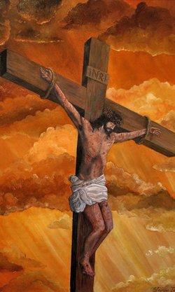 耶稣被钉死在十字架上