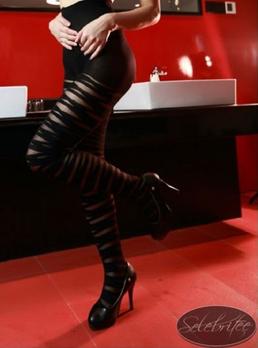 瑟蓓绮-美女开裆黑色纹连裤波浪电视薄纱性感美女古代丝袜图片