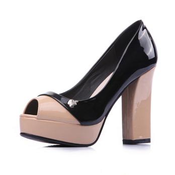太平时尚2012秋鞋公主靓丽拼色防水台新品高惠州设备公司图片