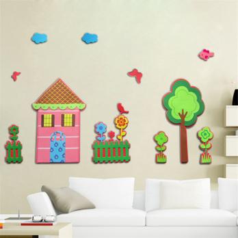 卧室沙发电视背景墙儿童房墙纸画壁贴