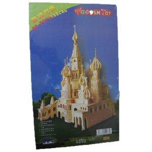 四联圣彼得堡3D模型拼图立体拼板仿真图纸木质怎么化工厂施工看图片