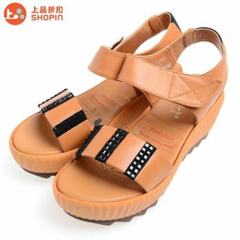 丽贵专柜正品女款真皮凉鞋lg1321-5208