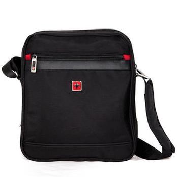 swisswin瑞士十字涤纶单肩背包sw9726黑色