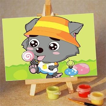 葫芦瓢手绘儿童画
