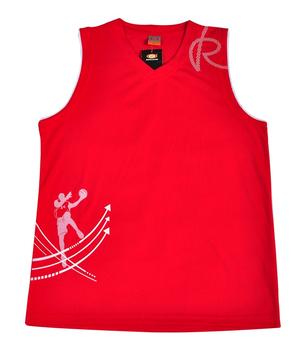 中健男款篮球服套装1510红色# - 球服\/运动服饰