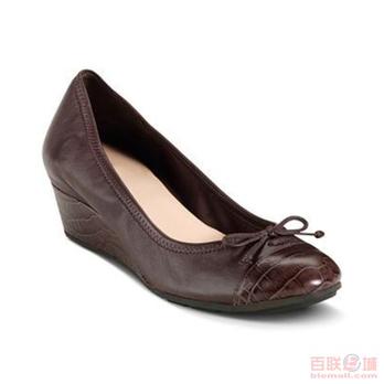 女士 小蝴蝶结饰低坡跟鞋