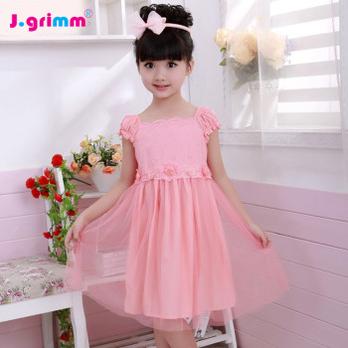 儿童网纱蕾丝裙