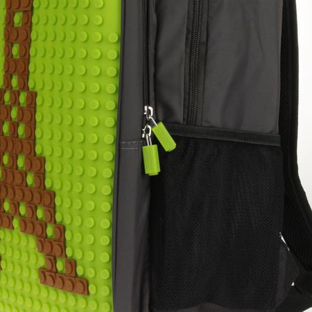 diy像素双肩背包升级版-绿色