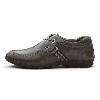 意尔康男鞋2012新款真皮系带休闲软面牛皮男士皮鞋