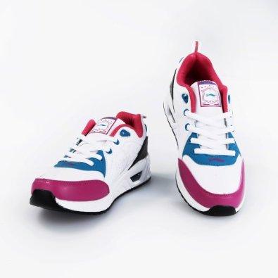秋季运动鞋女跑步鞋休闲女士超纤皮鞋
