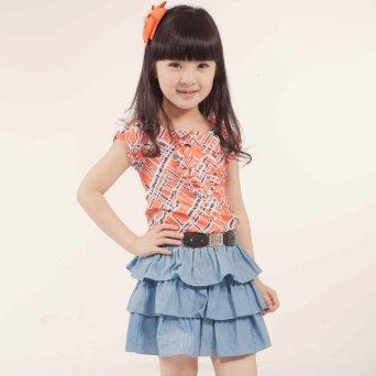 裙儿童韩版牛仔裙