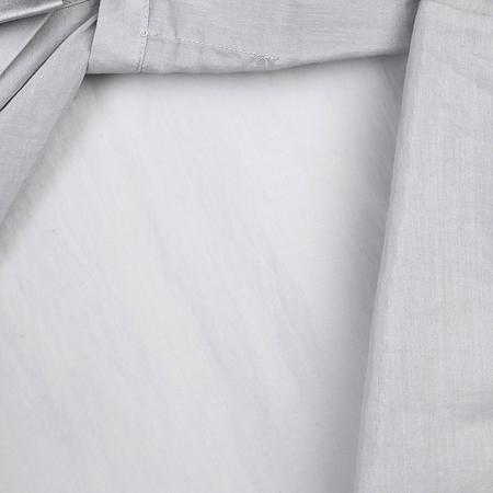 eachway艺之卉 ol通勤荷叶边装饰女衬衫 灰色