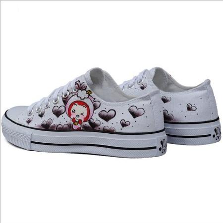 帆布鞋女热卖韩版手绘鞋漫儿手绘涂鸦手绘
