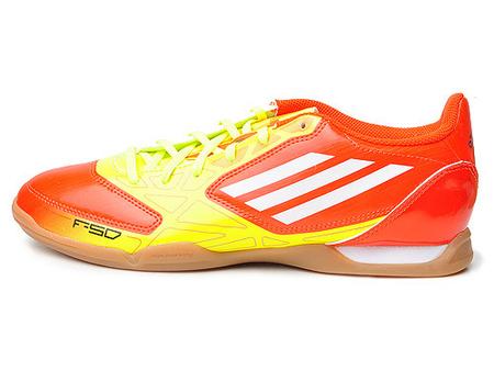adidas 男式 f50系列炫目配色室内足球鞋