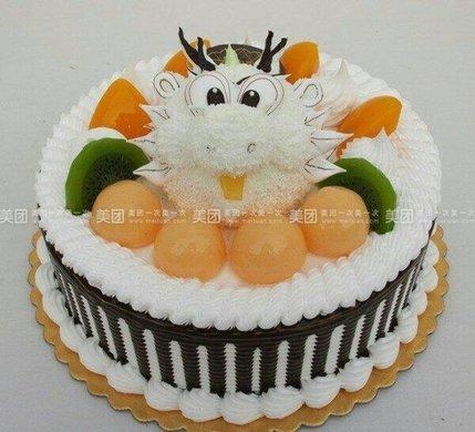 卡通水果双层蛋糕图
