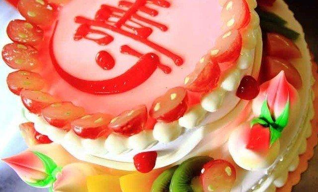 三层带寿蛋糕图片 三层生日蛋糕寿桃图片 三层蛋糕图片大-三层寿图片