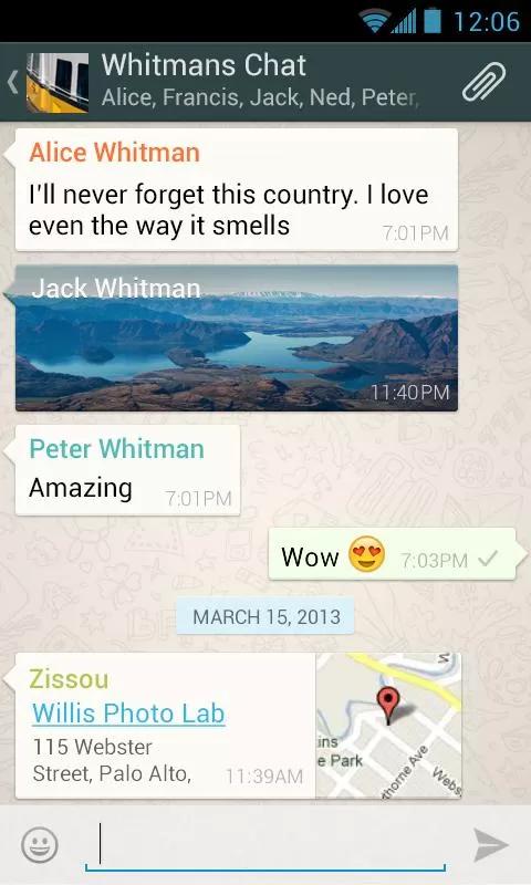 手机通信WhatsApp Messenge截图3