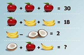 每日一题075|一个水果算术题把网友整疯了,你准备好了吗?