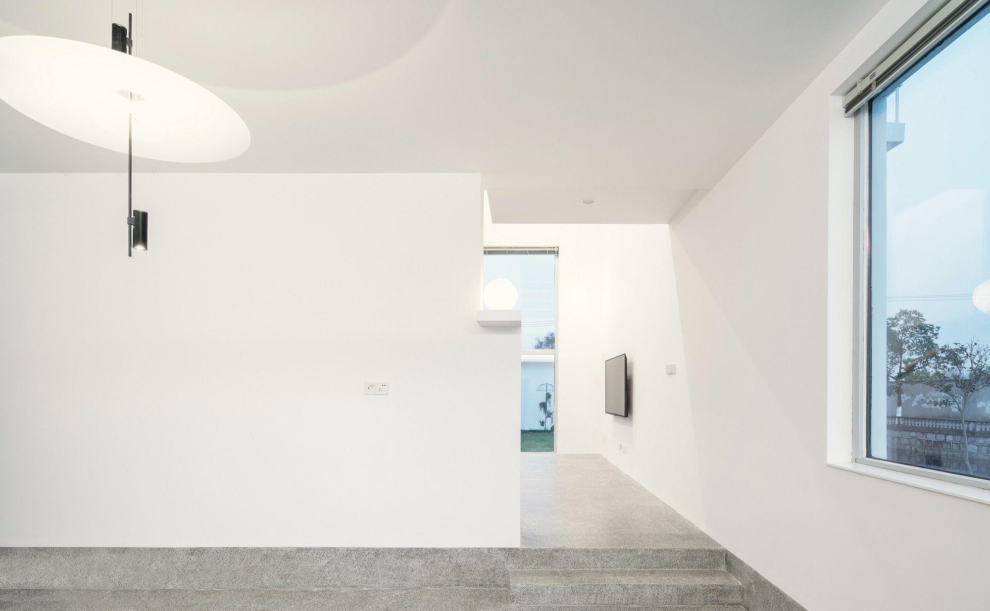 乡间的白别墅价格,现代主义的盒子v别墅金村诗意别墅苑图片