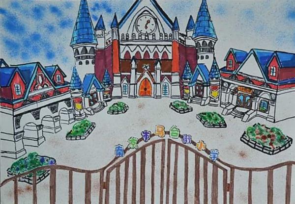 六年级美术风景画学校_360问答