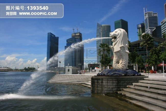 新加坡鱼尾狮公园图片素材