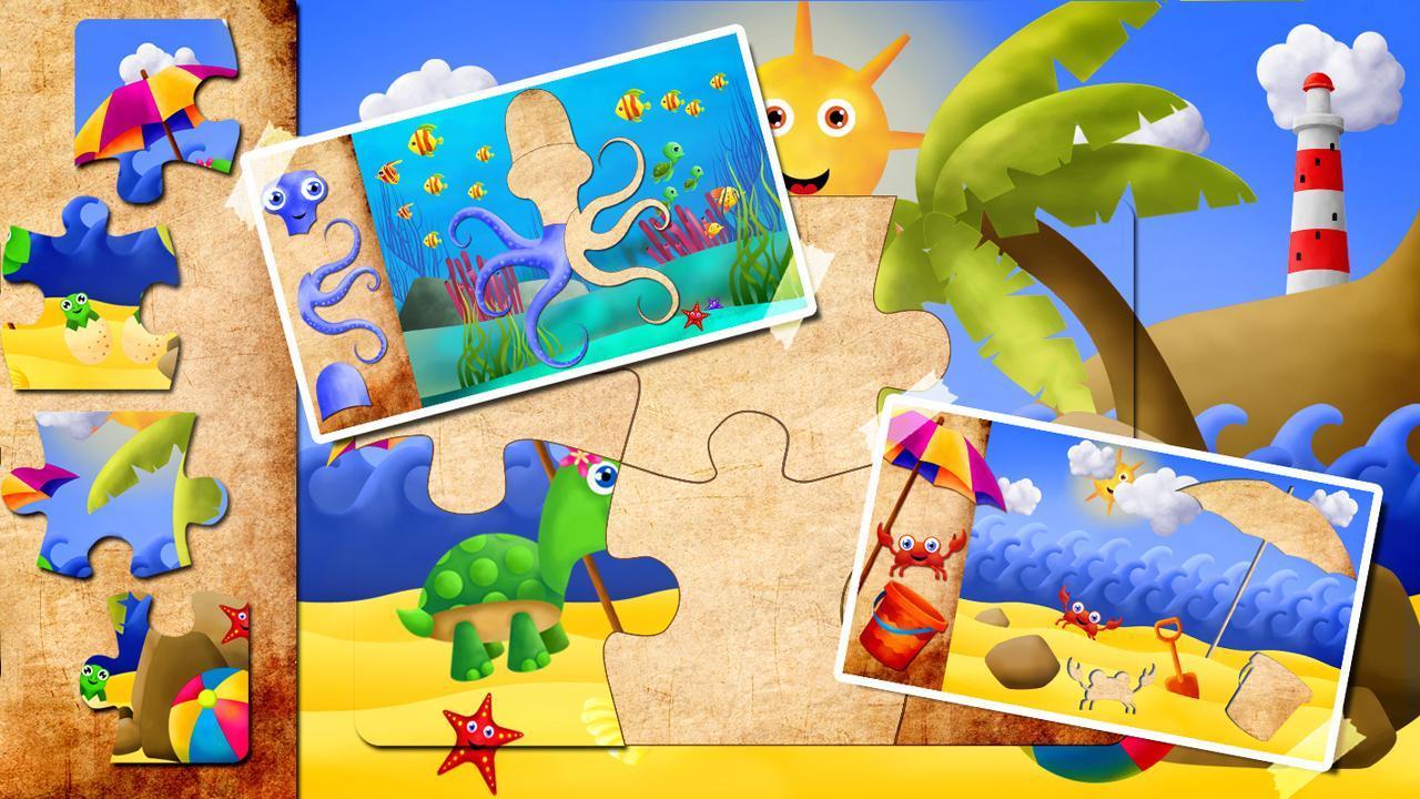 这些高清拼图为孩子和幼儿提供了市场上最美丽的高清海洋动物图形。拼图是由艺术家特别说明幼儿和幼儿园年龄段的孩子,因此包含生动的色彩和迷人的动物适当的年龄。这个学龄前教育游戏提供了完整版48个难题,其中8个是免费的,没有广告!幼儿和家长可以享受小螃蟹玩皮球和海龟妈妈和她的孩子们在海滩上的风景。让你的孩子放松,在海边或发现的海洋海底世界的神奇与五颜六色的鱼,龟宝宝,笑了章鱼,年轻的水母,河豚和其他许多人快乐的动物!高清难题是完美的包含直观,方便可触摸的界面,即使是最小的孩子幼儿和学龄前儿童。它会帮助您的孩子提高