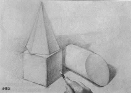 石膏几何体——长方体(内含视频教学)   石膏几何体透视图画法灭点