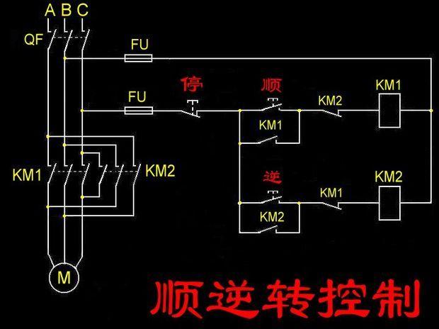 笼型电动机正反转控制电路如何连接