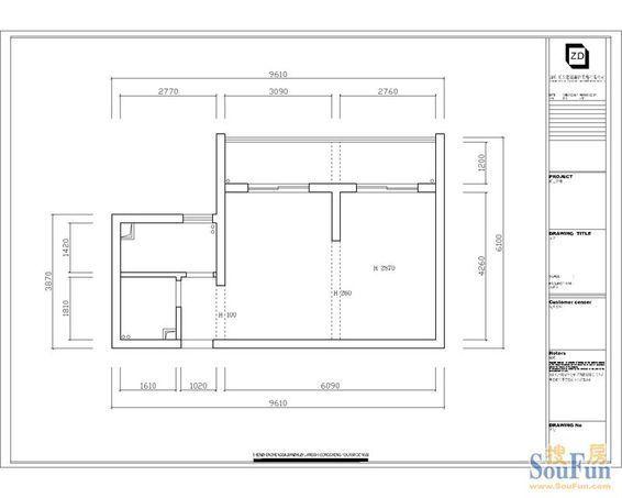 以下是房子的结构图,南北向