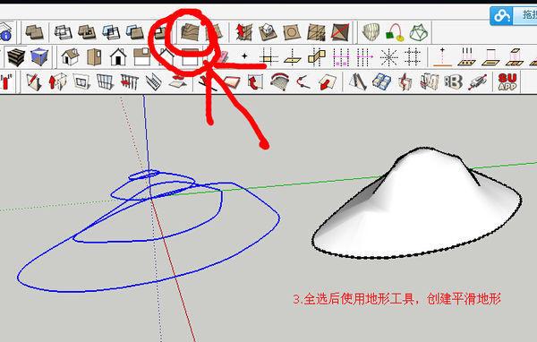 用现有的等高线CAD文件在sketchup中做地图广州cad图片