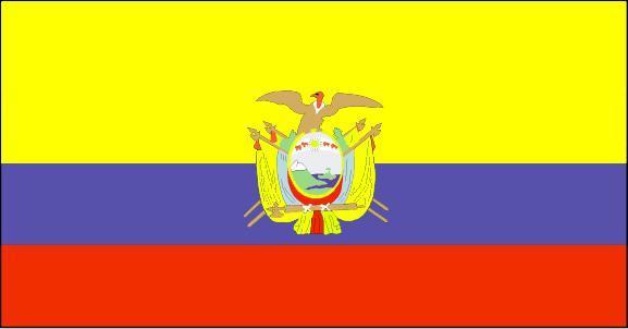 国旗简介 编辑本段 厄瓜多尔国旗,长方形,长宽之比2:1.