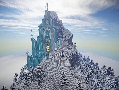 我的世界冰雪城堡怎么建