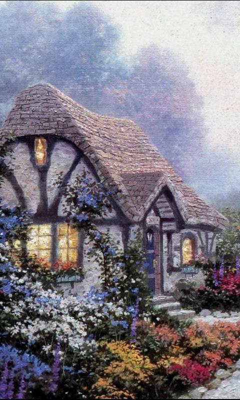 具有欧式风格的乡村,美丽的景色仿佛童话世界般一尘