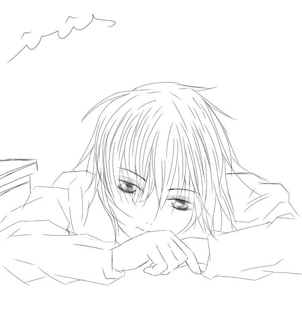 求速写日本动漫帅哥图片,看起来要真实