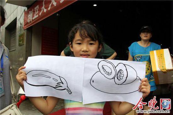 菜市场的简笔画图片