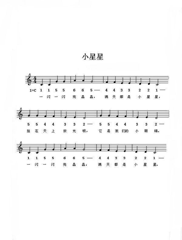 简单的电子琴儿歌简谱_360问答