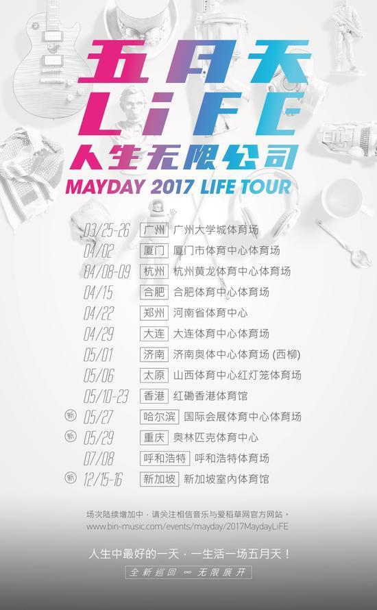 五月天全新巡演《人生无限公司》广州站开跑