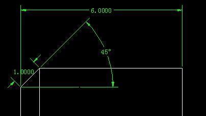 CAD绘图中代码1x45°倒角_360问答cad混凝土英文意识填充图片