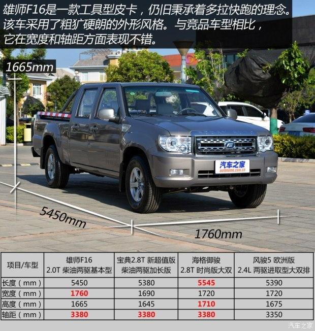 福迪雄师f16怎么样 国产皮卡车价格8.18万起售