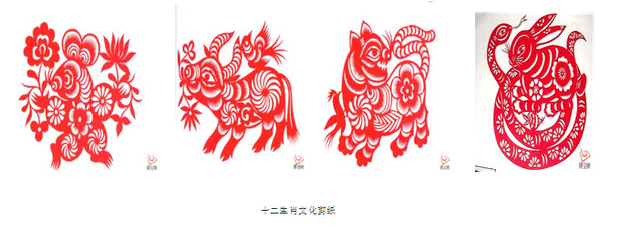 岁月的舞台,一年一启幕一落幕。子鼠值岁,丑牛接班,寅虎继任,卯兔候补此生肖,彼属相,十二年一登台,十二岁一循环。龙蛇马羊乃至猴鸡狗猪,这些生肖依次出场,它们不仅仅将每一年的地支化为灵气飞动的属相,他们还是带着更多的文化含蕴登台的,中国几千年各民族生肖文化长盛不衰的动感活态,同时,它也揭示了亿万人身边司空见惯的十二种动物精灵,却能形成如此规模博大的文化集结,并且能使生肖文化集结和每一个活着的和离去的人的精神、命运和情感,紧紧牵连在一起,构成了每个人永生也剪不断的文化情结。人们将这种文化情结融入到小小的剪
