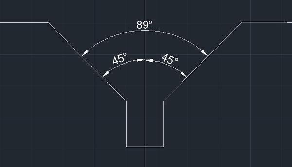 cad标注角度两个45度出来一个89度_360cad线粗糙度波浪图片