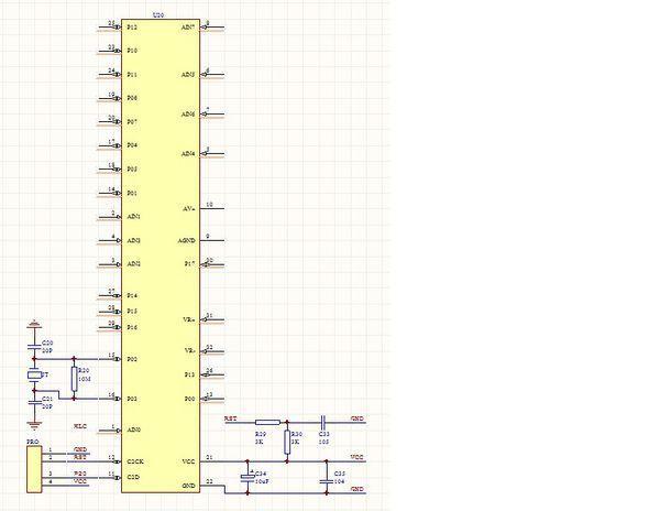 急求80c51f310单片机的最小系统板的原理图?谢谢!