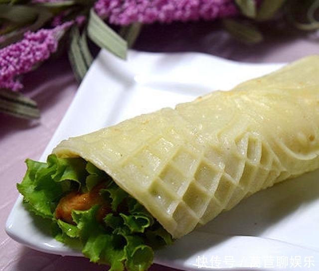 美味鸡肉卷,口感丰富,自制料超足,早餐吃它太营养了