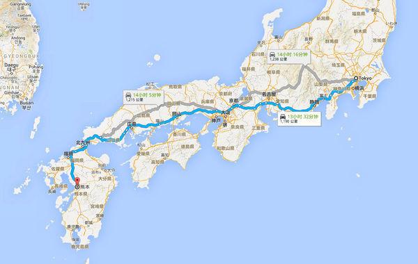 日本东京离九州的距离_360问答