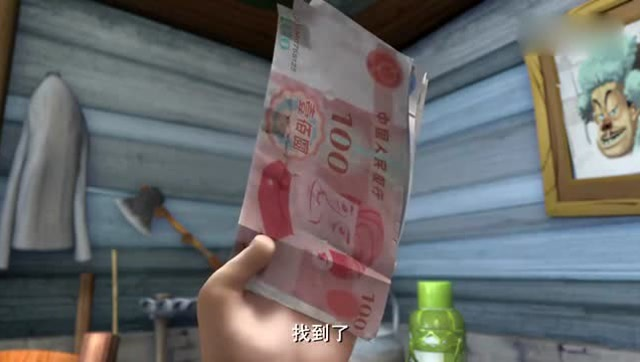 熊出没,中国传统节日,春节快要到了, 光头强筹钱回家过年