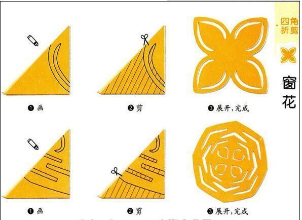 儿童剪纸步骤 资料大全 窗花_儿童剪纸窗花步骤图
