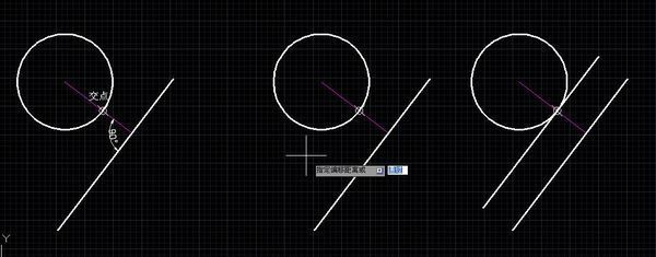 cad中如何将直线用偏移命令与圆相切,圆的半径